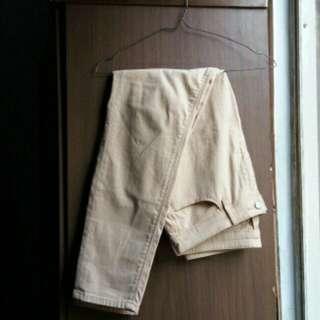 Pants uniqlo cream