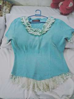 Unbranded Aquamarine Blouse S-M FREE (just pay for shipping)