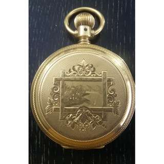RARE solid 14K Elgin pocket watch