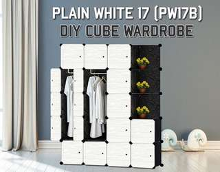 17 Cube Wardrobe with Corner Rack