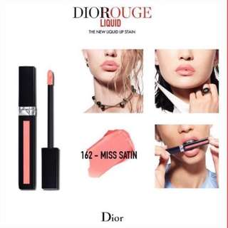 BNIB Rouge Dior Liquid Lip Stain in 162 Miss Satin