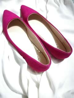 doll shoes pink suede