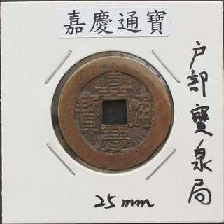 中國古代銅錢--清代--嘉慶通寶-8