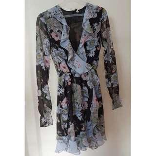 H&M Long-Sleeved Floral Dress