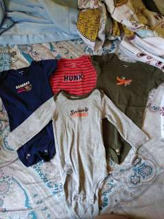 Carters baby onesies set of 4