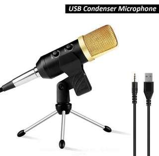 USB podcast condenser microphone PC recording MIC