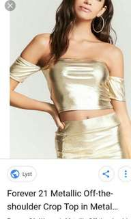 Forever 21 metallic cropped