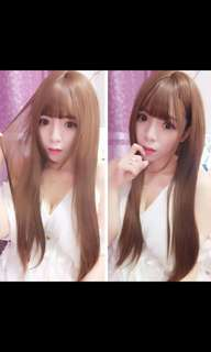 Preorder korean air bangs natural straight ladies wig * waiting time 15 days after payment is made * chat to buy to order