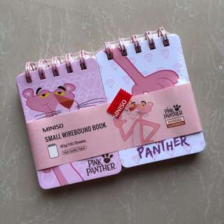 Pink Panther small wirebound book
