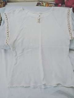Show Room Dirty White Blouse S-M