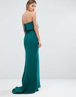 Beautiful Emerald Green Formal Dress - Size 6/8