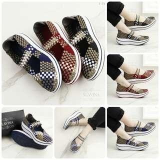 [SLAVINA EMMA WEDGEA T73] Sepatu Fashion Wanita Impor Murah