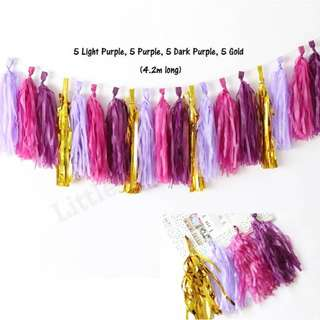 *SALES* DIY Paper Tassels (Purple)
