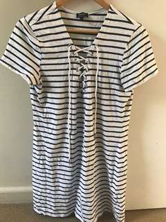 Bardot Stripped T-Shirt Dress