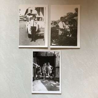 Vintage Old Photo - Old Black & White Photographs (set of 3) (all 3 for $15) (9 by 13 cm)