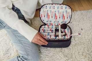 現貨美國正品Yumi Kim海軍藍旅行化妝包