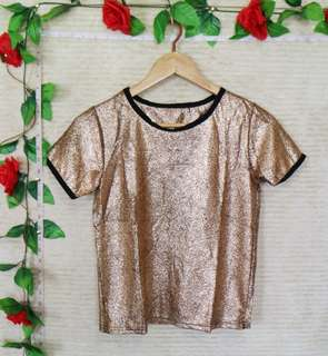 ⚡BLACK & GOLD PARTY TOP⚡