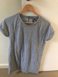 Miss Shop Grey T-Shirt Dress