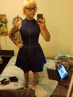 Dark blue Cue dress