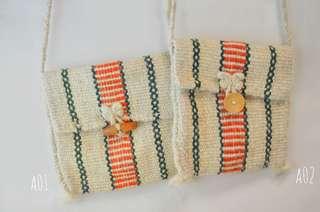 民族風小清新斜揹袋sling bag 全人手製作,氂牛🐂毛編織而成,每個都獨一無二。現貨全十款。