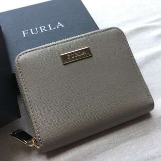 Furla wallet small grey 短銀包 灰色