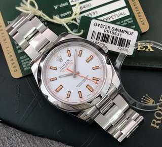 Rolex Milgauss white dial v series 2010