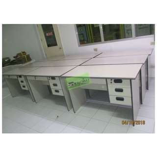 OFFICE TABLE 120WX60DX75Hcm LIGHT GRAY COLOR WITH 3 DRAWERS