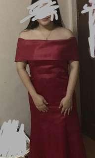 Elegant Red Gown Mermaid