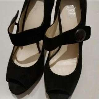 Wittner Black Heels, Size 37