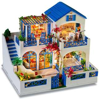 DIY Miniature Mansion House - Meteor Garden in Blue