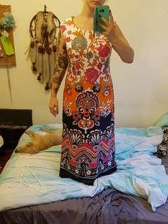 Vintage 60s floor length dress