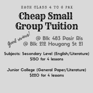 CHEAP AFFORDABLE ENGLISH TUITION