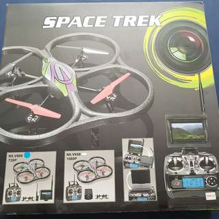 Space Trek Quadcoptor Drone with 720P HD Camera
