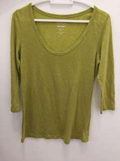 Lime Green 3/4 sleeves