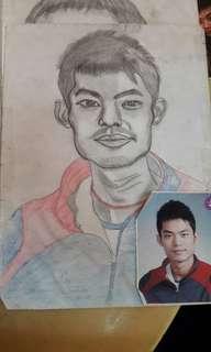 Lin dan portrait