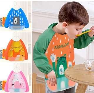 Baby Cartoon Waterproof Stain Resistant Bib Children Drawing Smock