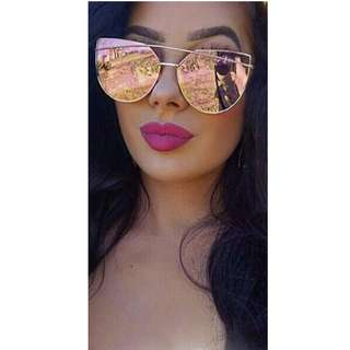 Cat Eye Pink Mirror Sunnies