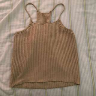 Ribbed Halter Top