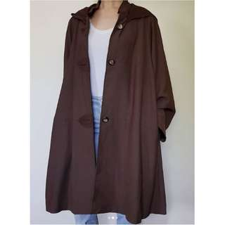 zunao_wearables🌹Hooded overcoat 🌹 Chocolate brown