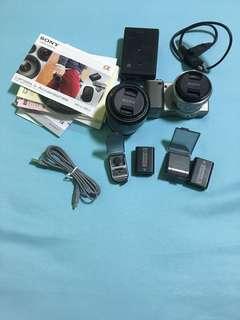 Sony Nex 5 dual lens + Sony s-frame