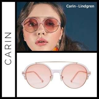 Carin Lindgren round soft pink sunglasses 太陽眼鏡