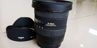 Sigma 10-20mm f3.5 for canon