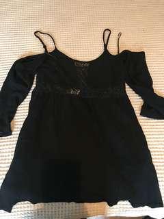 Chiffon boutique off shoulder dress