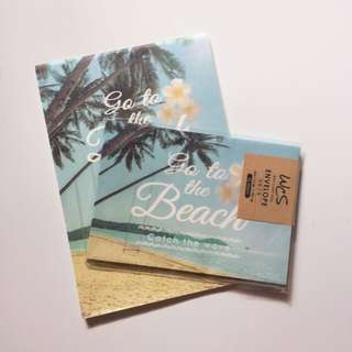 Go the Beach Letter Pad and Envelope