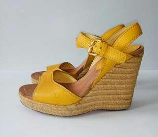 Car Shoe Kuning Kulit Espadrilles Authentic Original