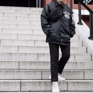 Nylon coach jaket jacket black hitam