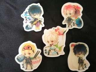 Gintama acrylic badges