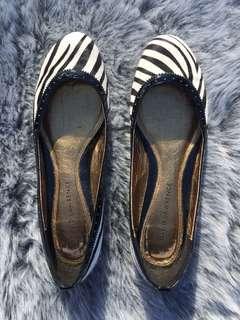 David Lawrence Zebra Animal Hair Flats