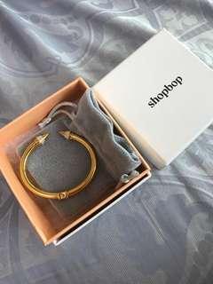 Vita fede gold crystal bangle bracelet