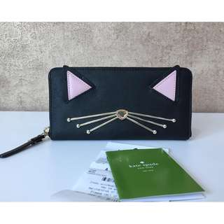 KATE SPADE WLRU3074 CAT MULTI ' JAZZ THINGS UP ' NEDA LEATHER WALLET